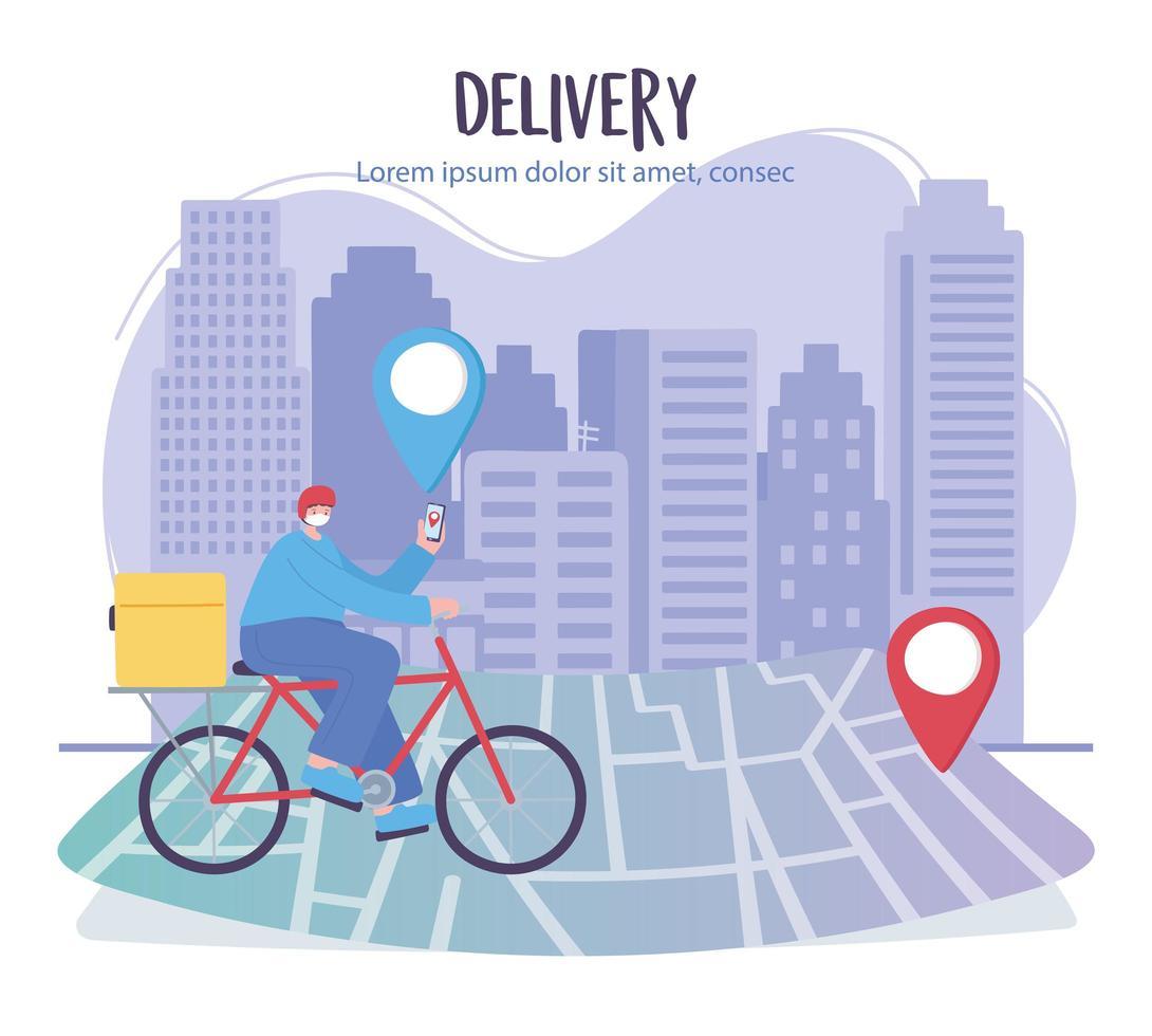 banner modelo de serviço de entrega online vetor