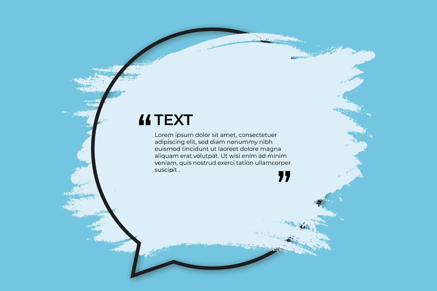lugar para texto con salpicaduras azules vector