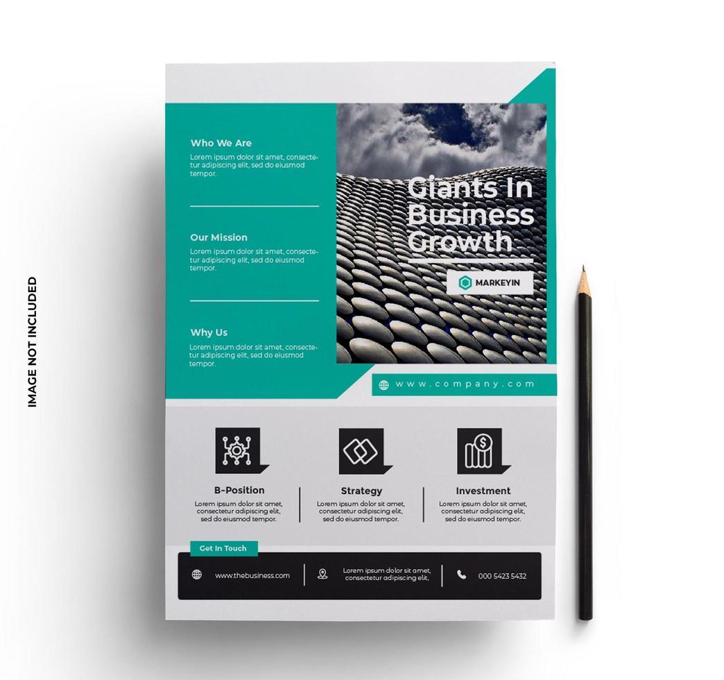 folheto empresarial moderno pronto para imprimir modelo vetor
