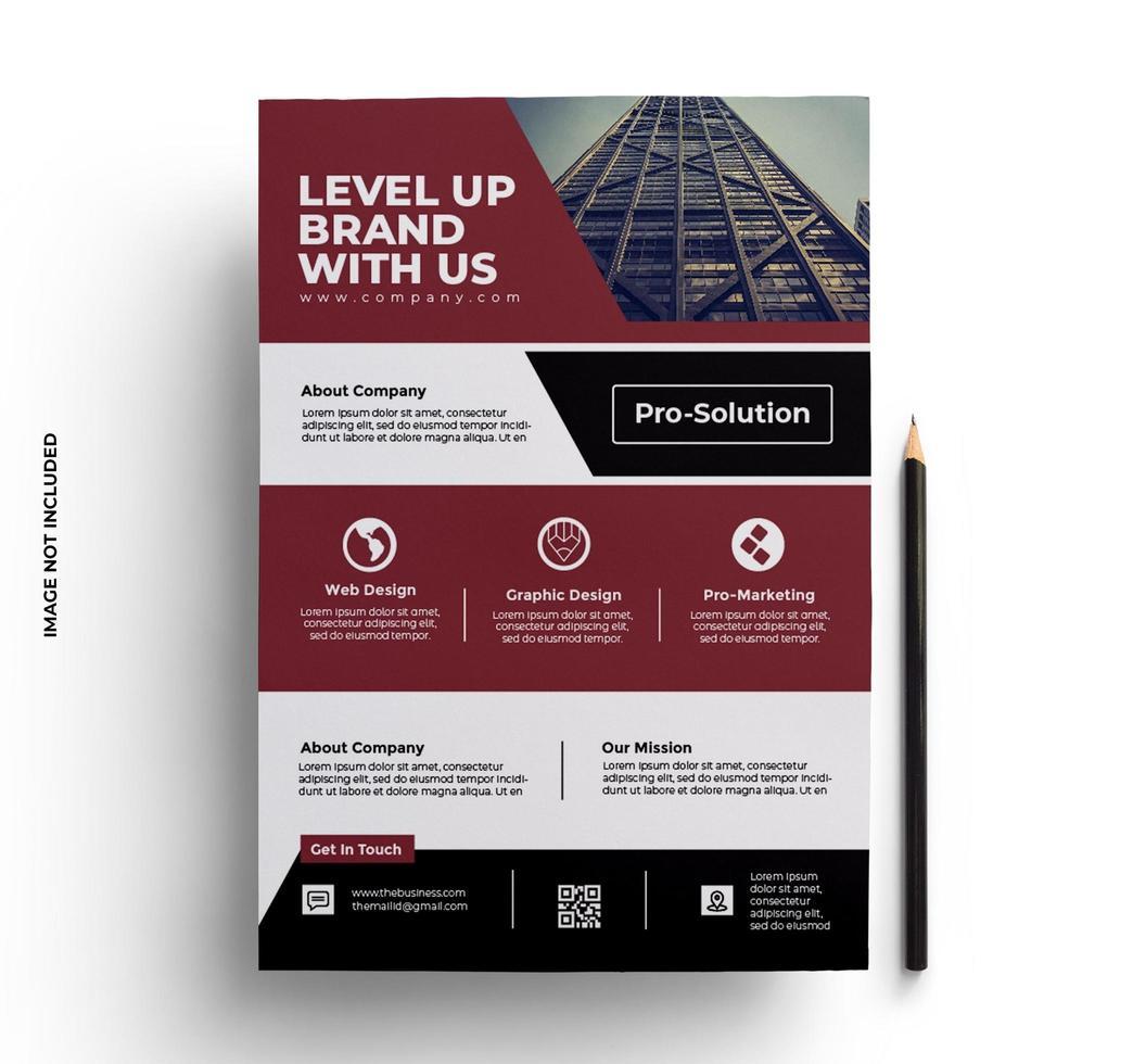 diseño de folleto de volante de papelería de negocios vector