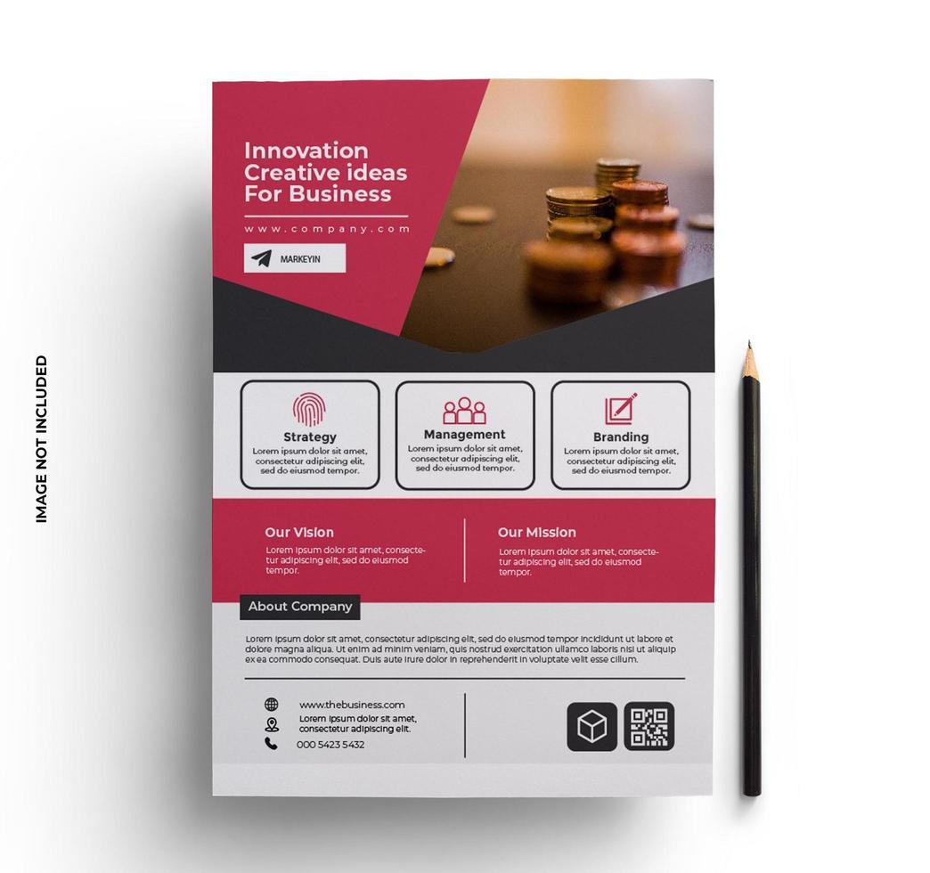 folleto de negocios moderno plantilla lista para imprimir vector