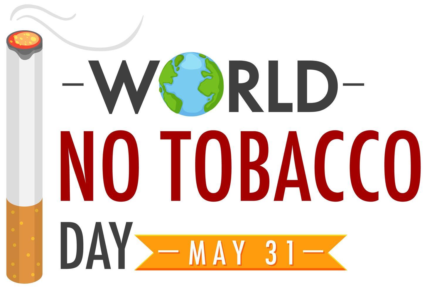 cartel del día mundial sin tabaco vector