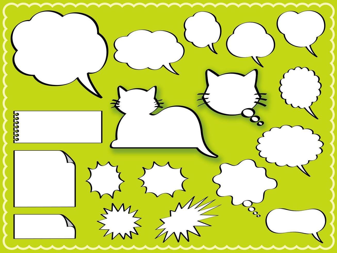 conjunto de balões de fala vetor