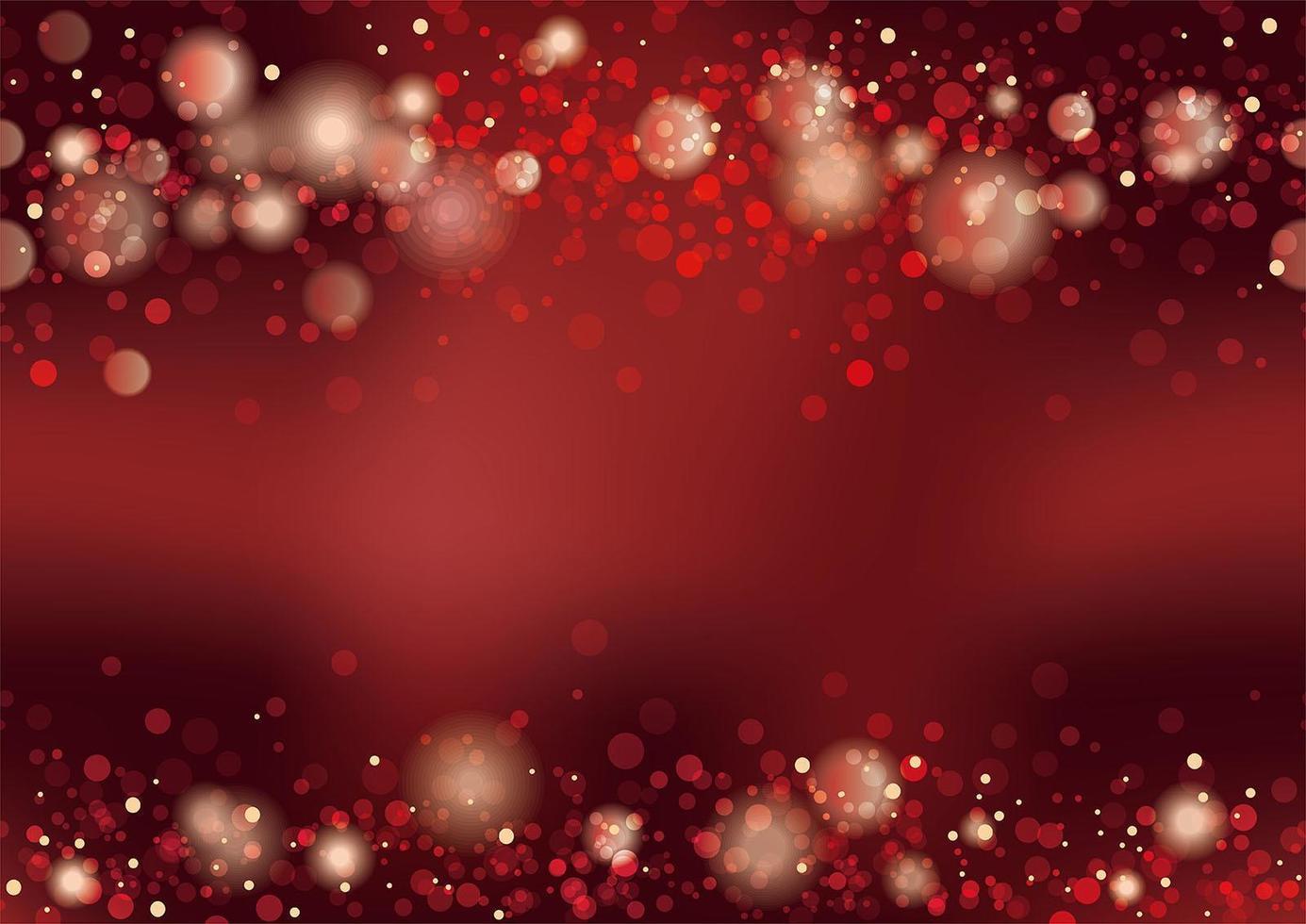 fondo rojo abstracto bokeh vector
