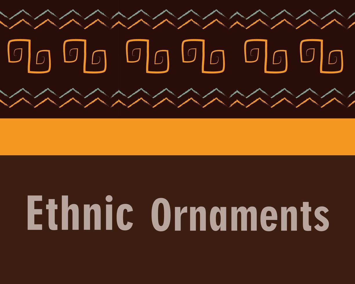 banner de azulejo de fondo de ornamento étnico vector