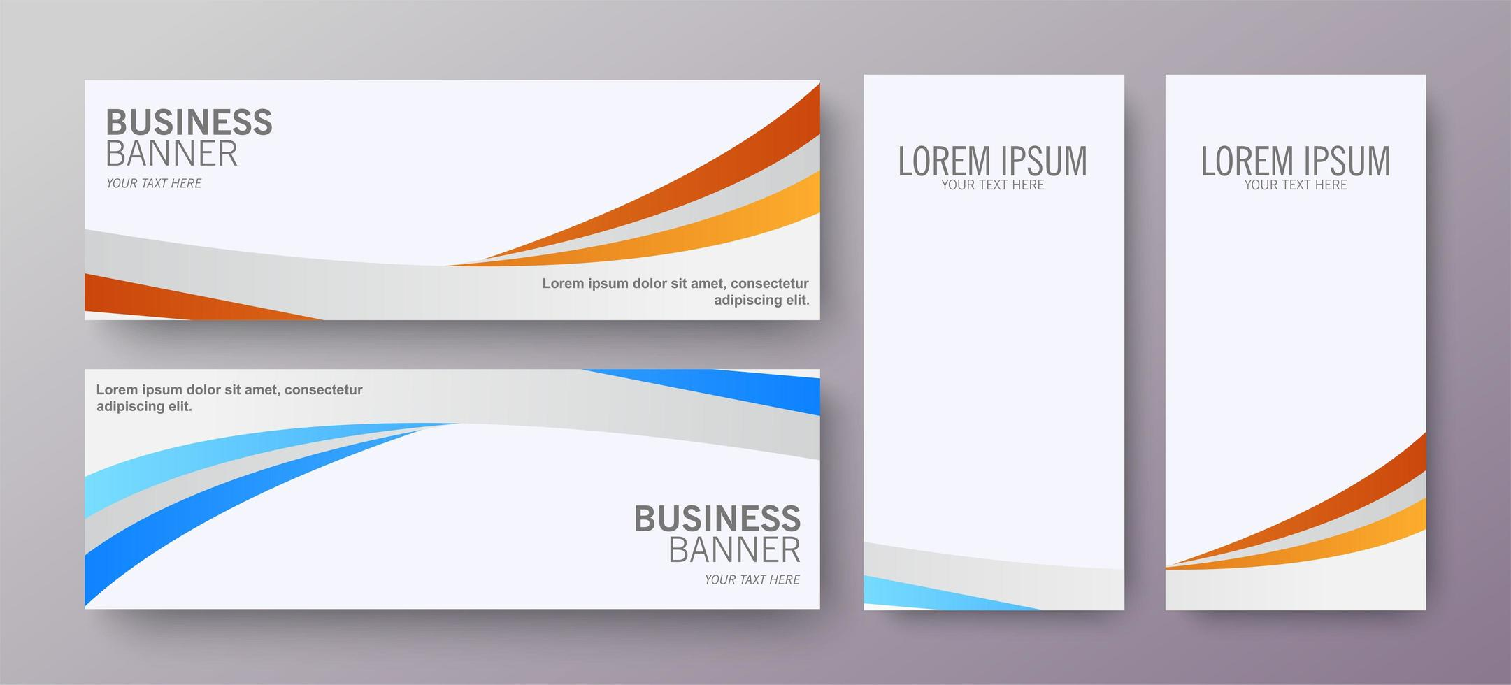 Business banner with wave design vector