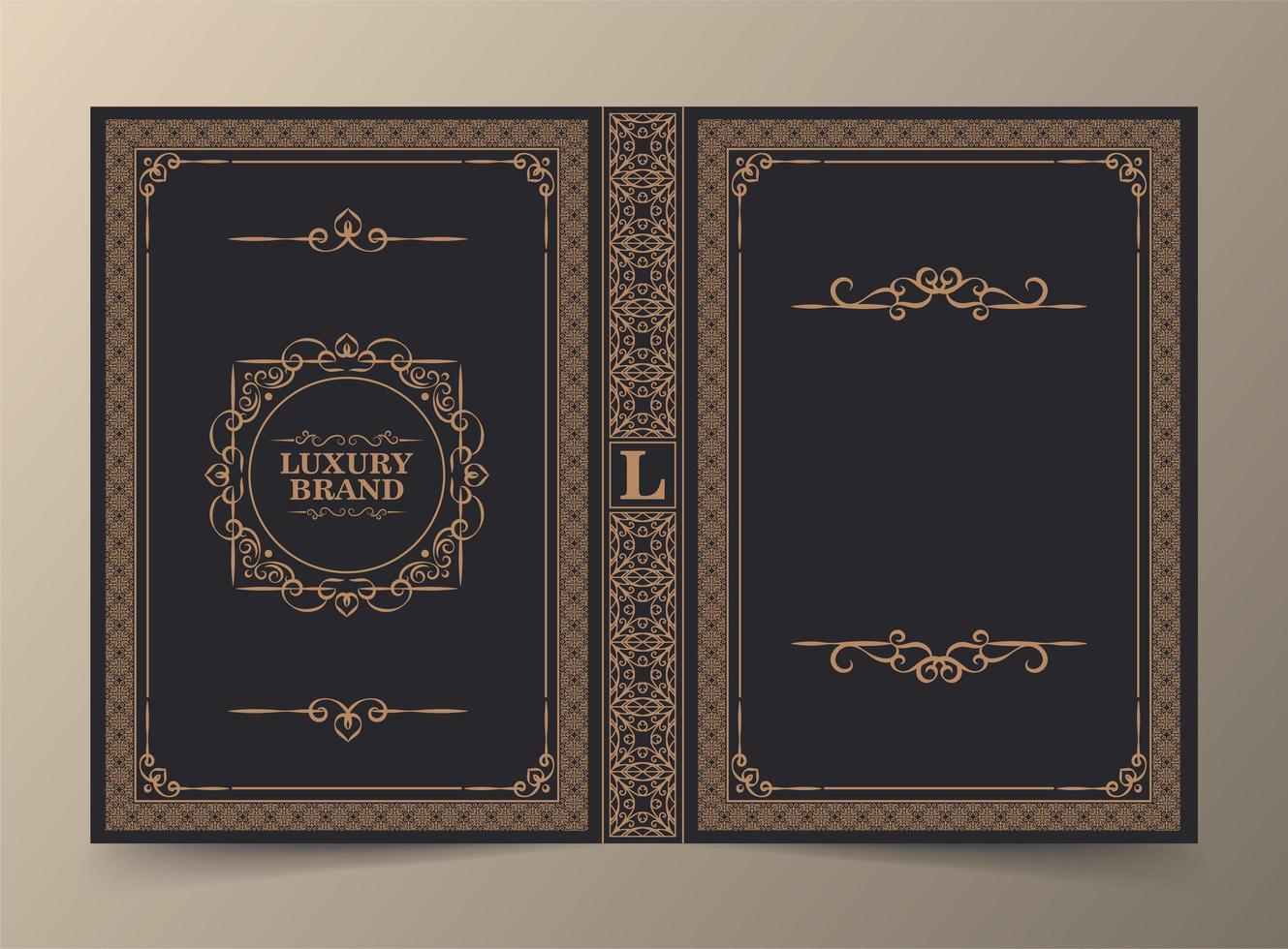 diseño de portada de libro ornamental vector