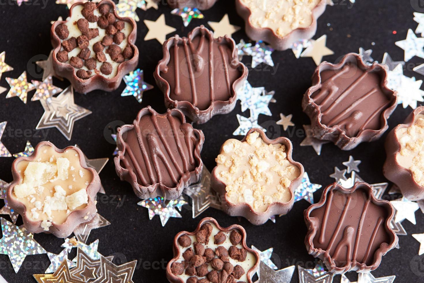 deliciosos dulces de chocolate foto