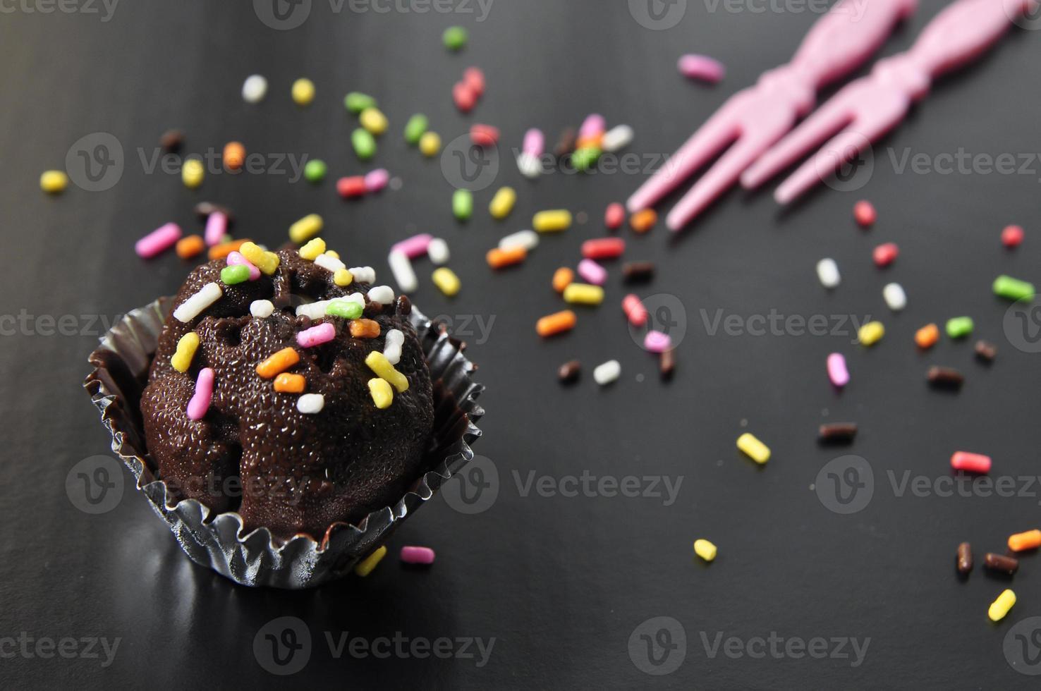 bola de chocolate foto