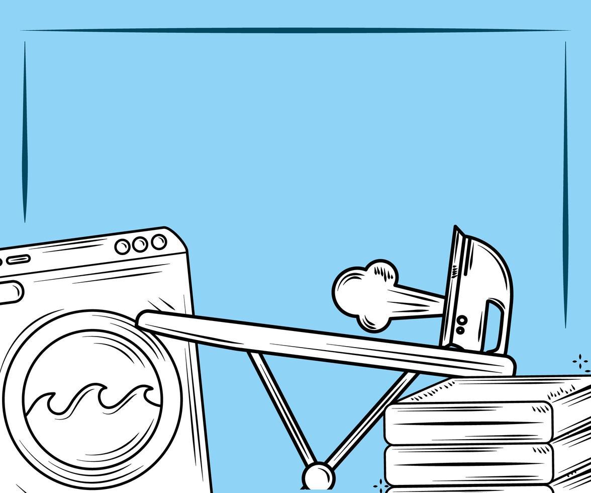 Laundry elements composition vector