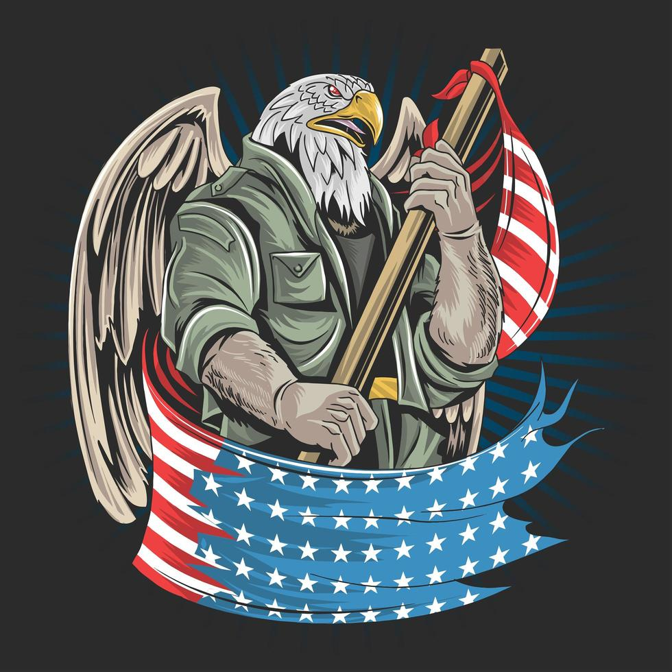 Eagle America USA army soldier vector