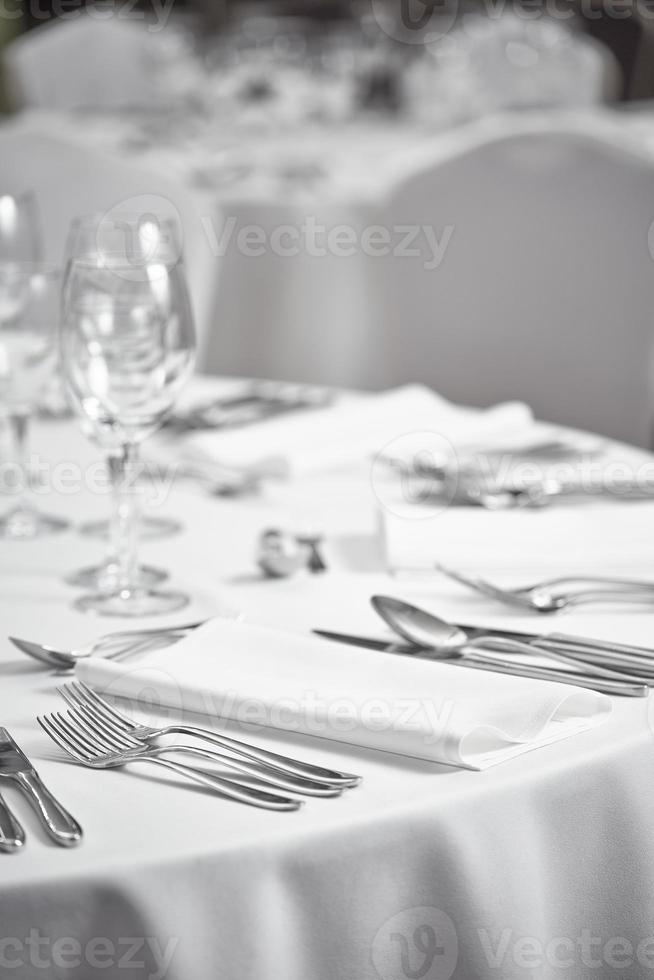 disposición de la mesa del restaurante foto