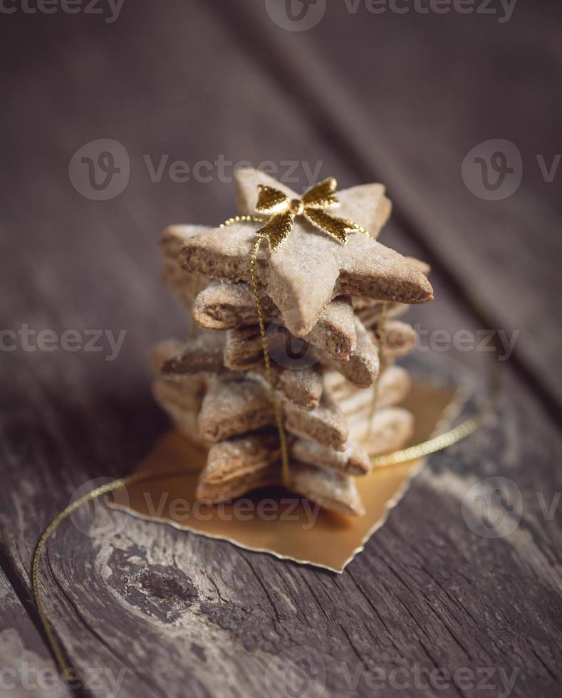 Stack of lovely Christmas cookies photo