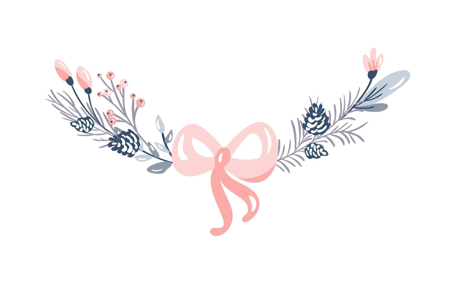Christmas branches decoration vector