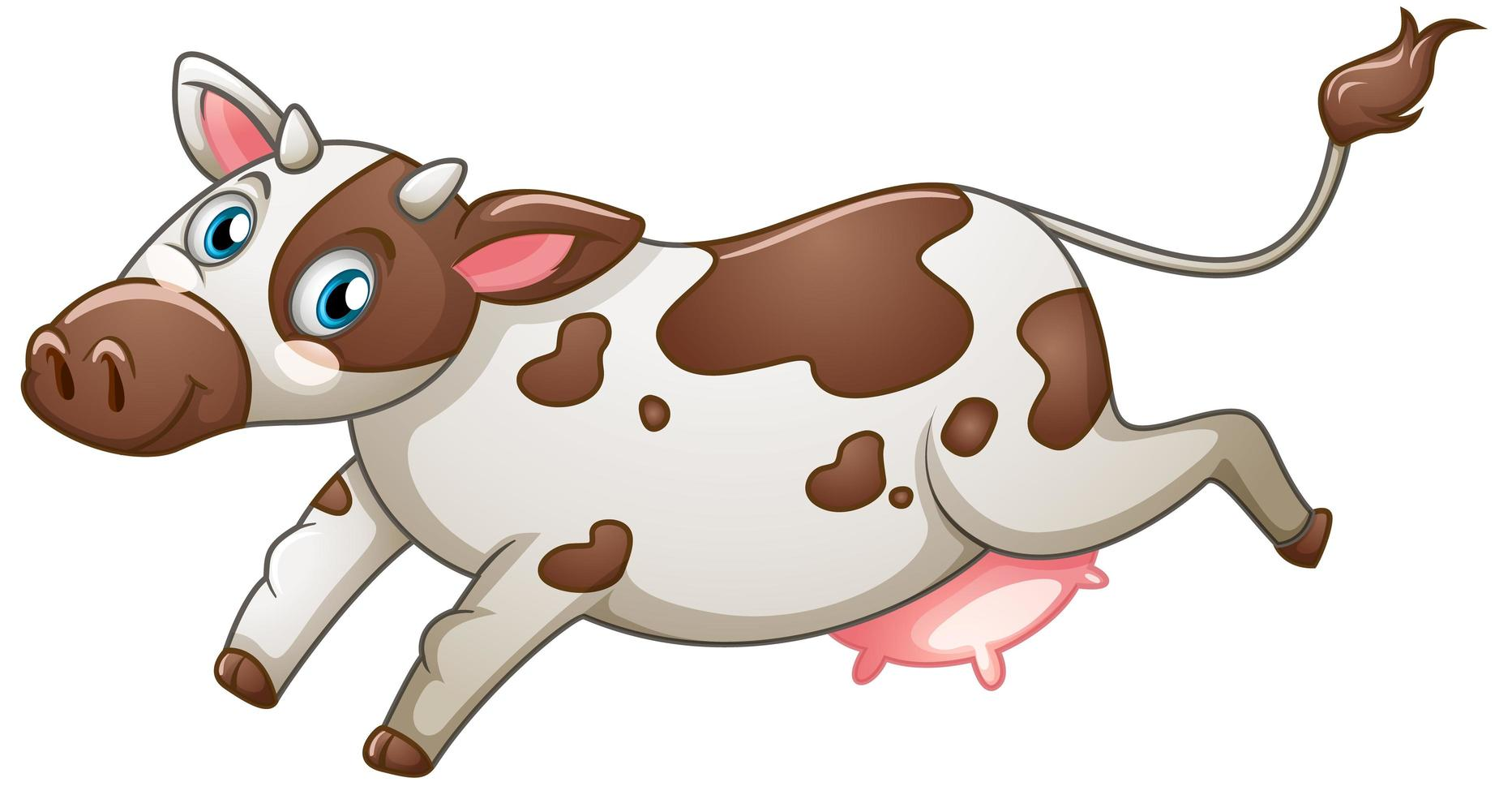 Cow on white background vector