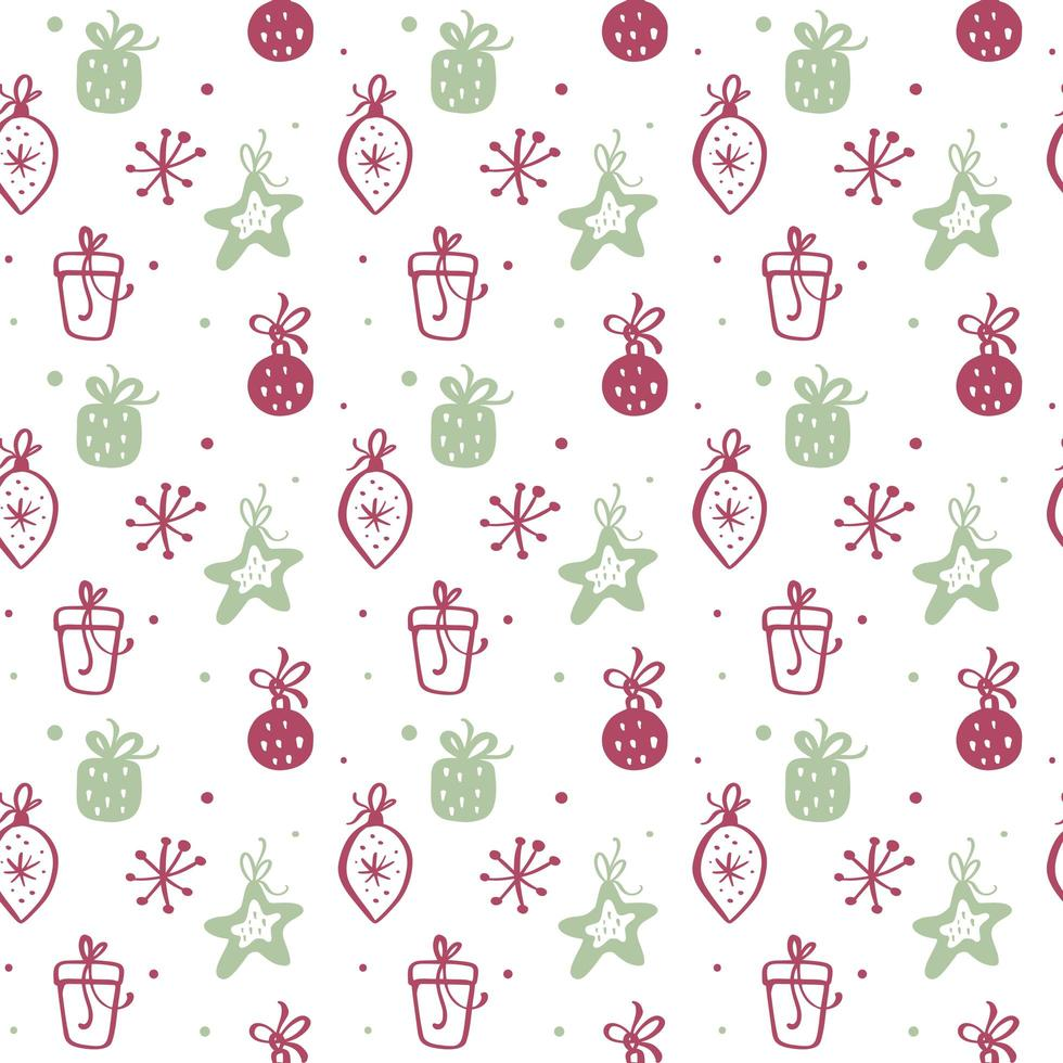 Christmas seamless pattern texture with gift boxes vector