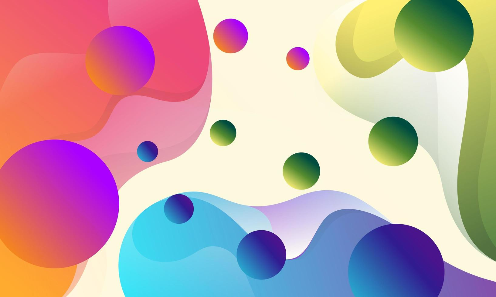 Abstract colorful flow shapes background vector
