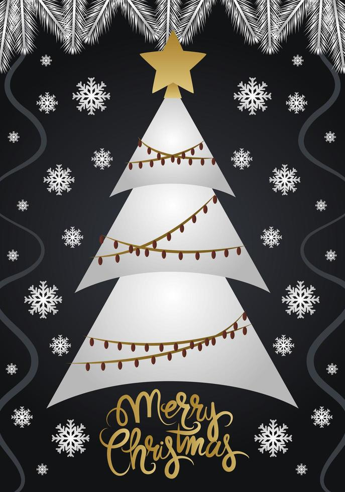 Deluxe Christmas greeting card vector