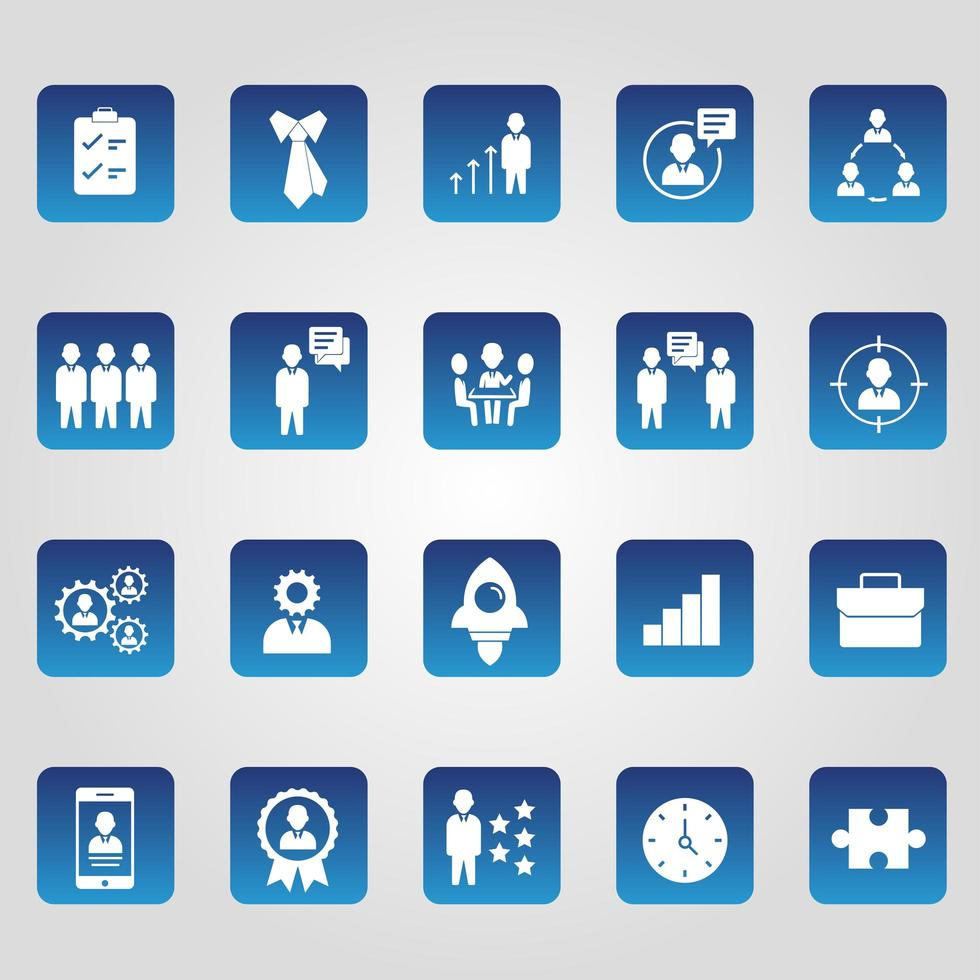 Set of Work Icons vector