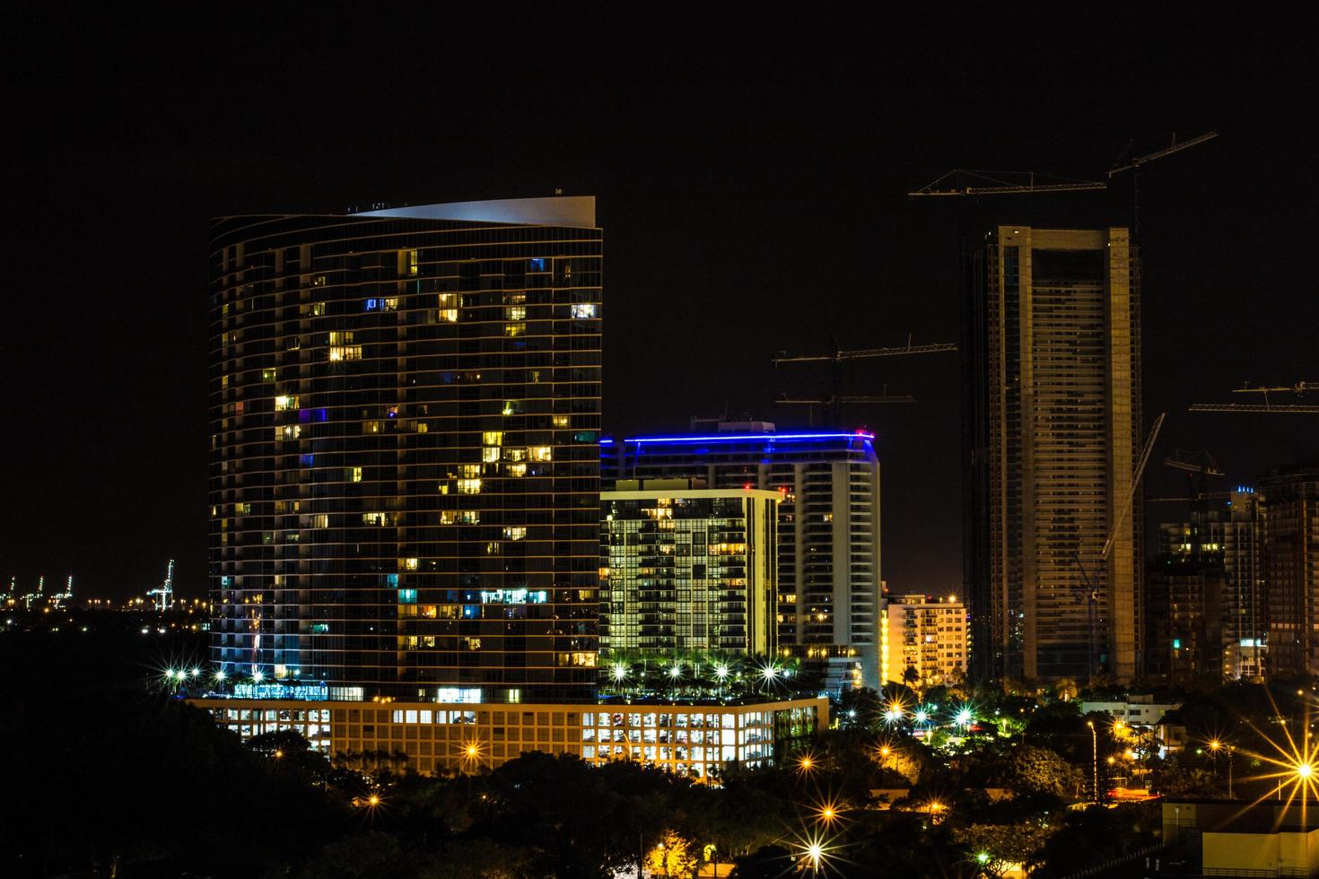Miami, Florida, 2020 - Cityscape at nighttime photo