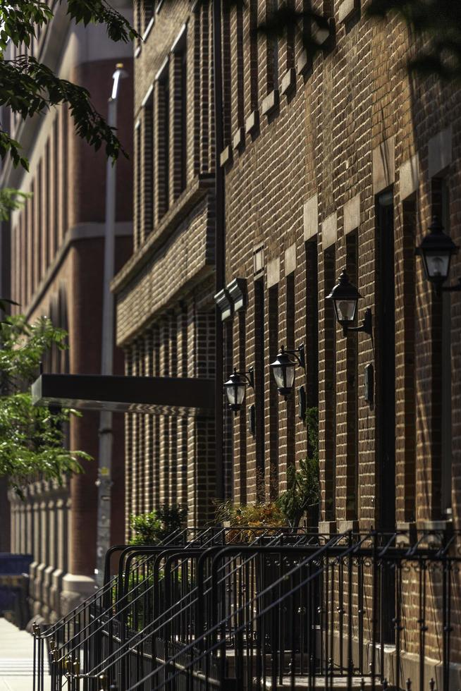 New York City, 202 - Brick buildings with metal fencing photo