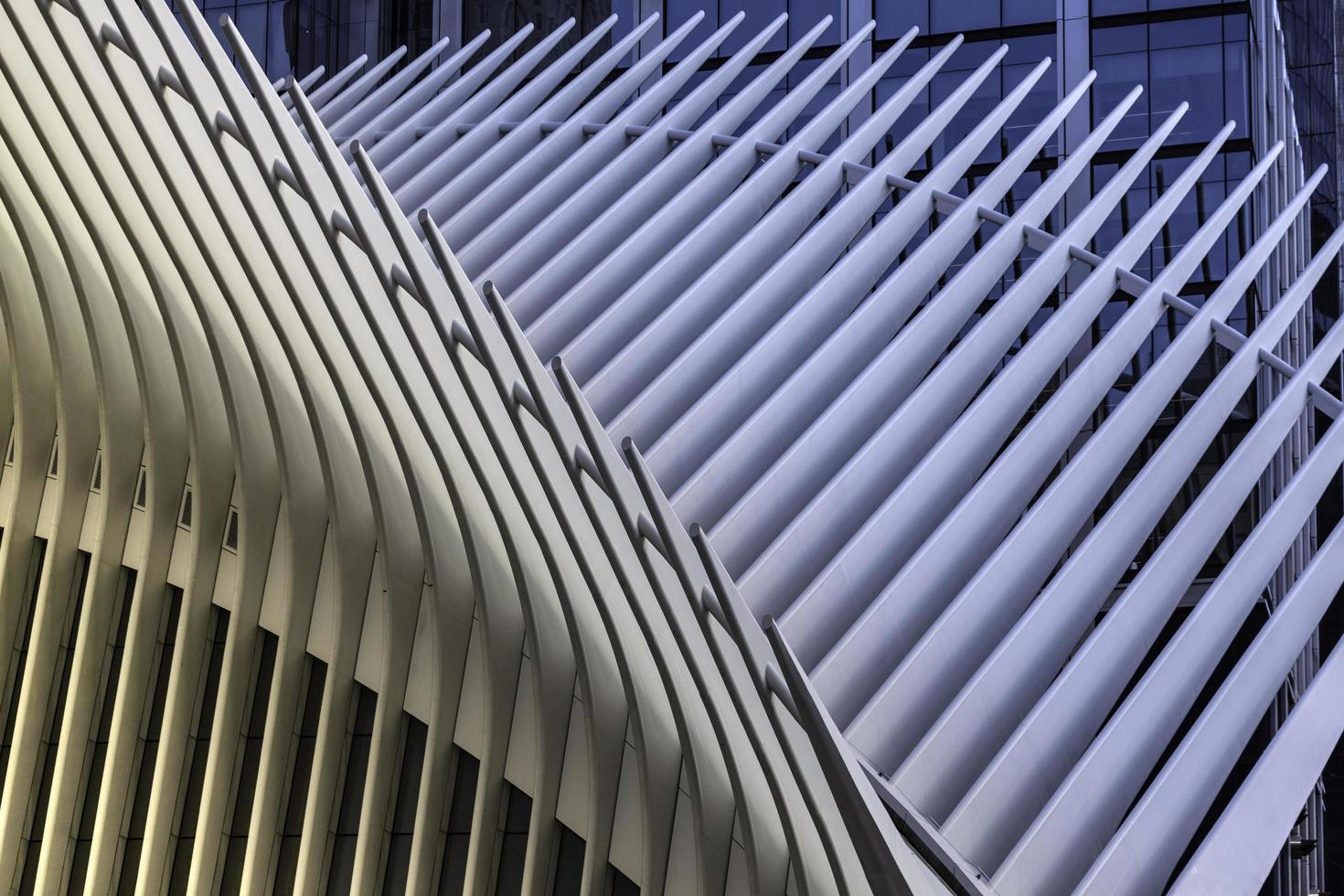 New York City, 2020 - Close-up of metal architecture photo