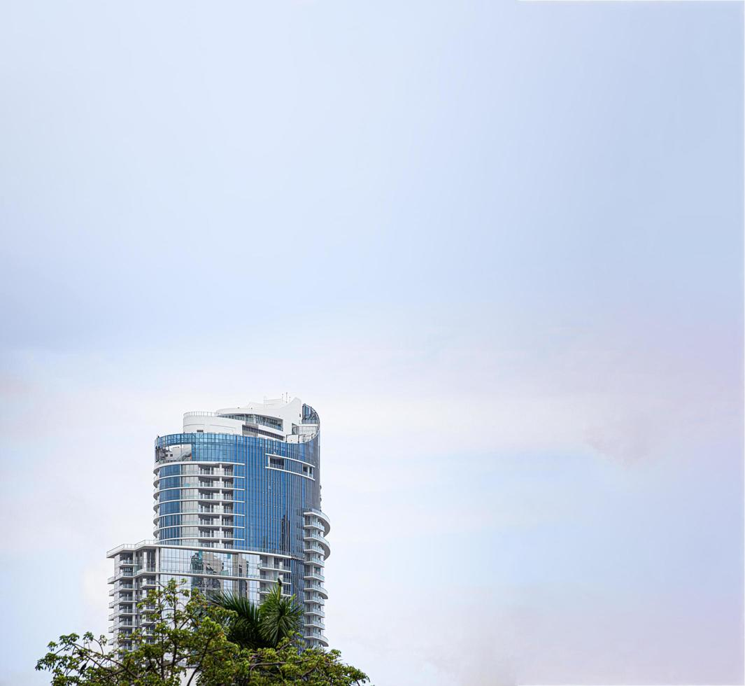 Miami, Florida, 2020 - High-rise building and trees photo