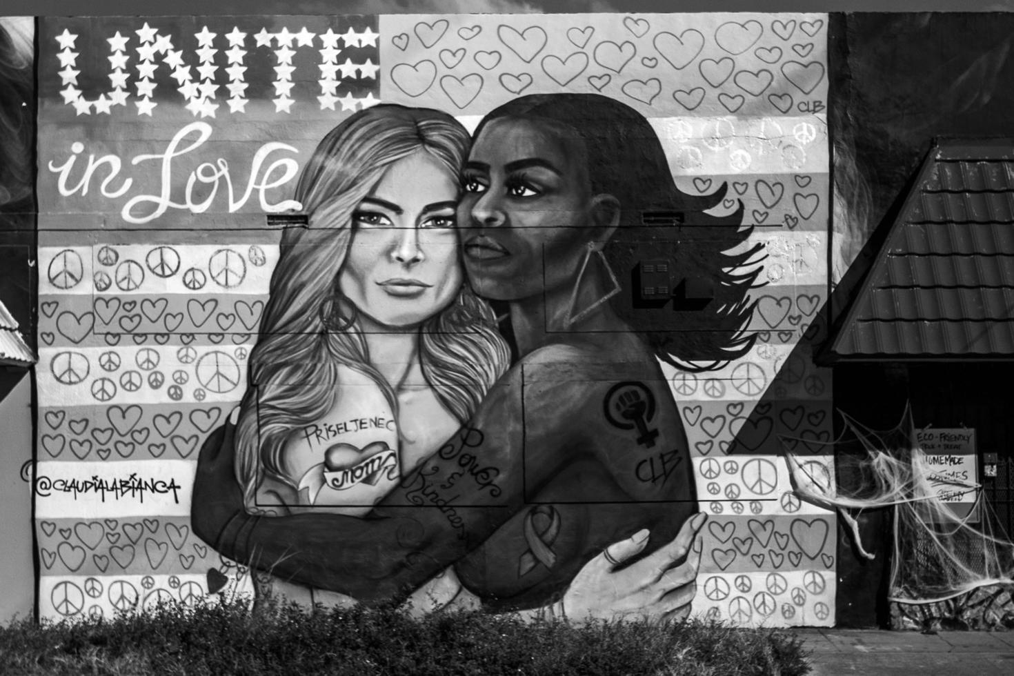 Miami, Florida, 2020 - Unite in love mural photo