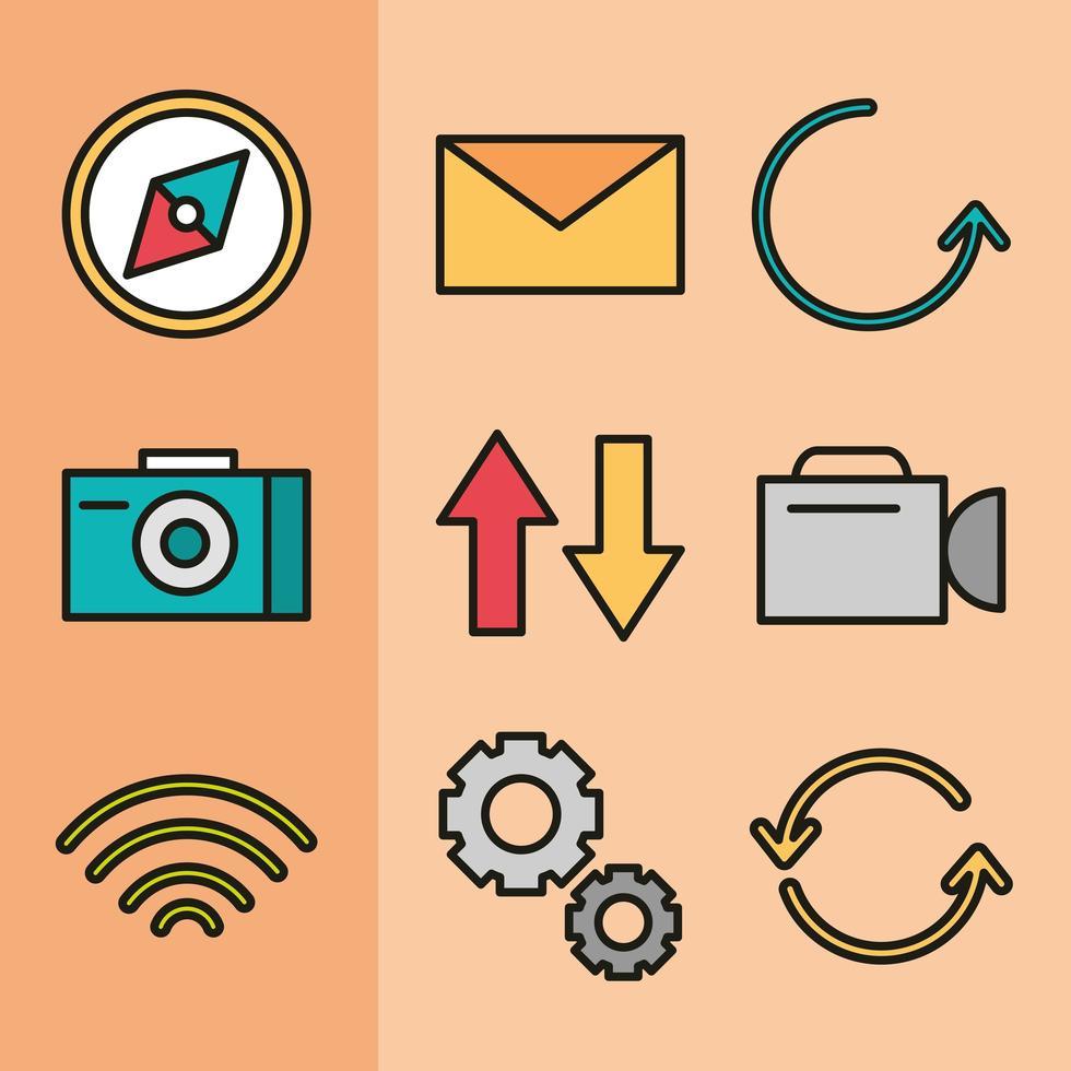 User interface icon set vector