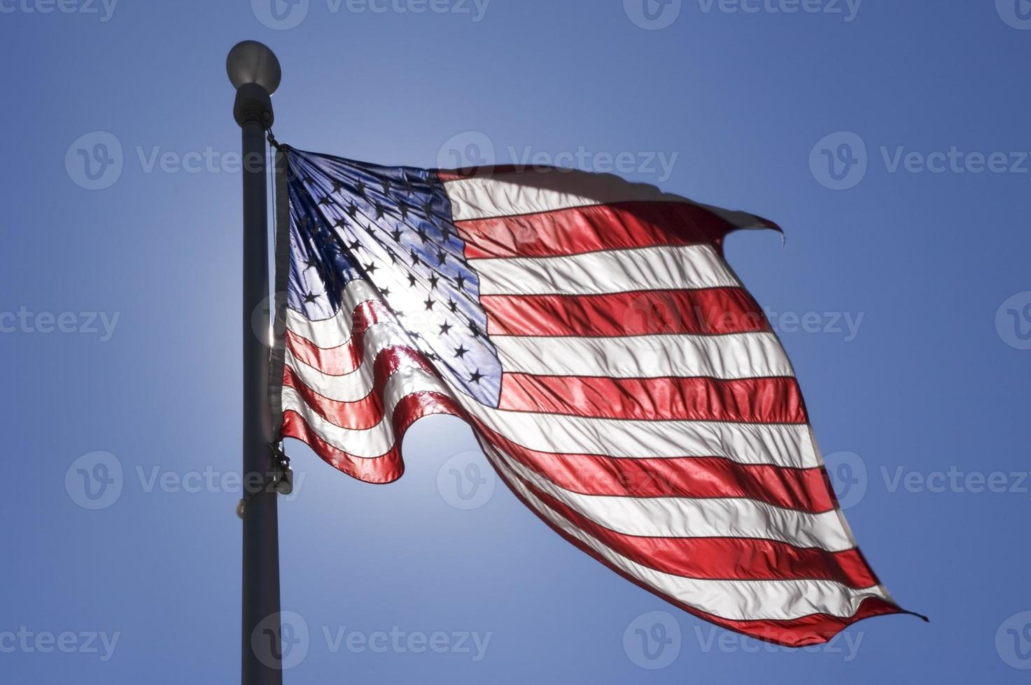Flag waving in the wind photo
