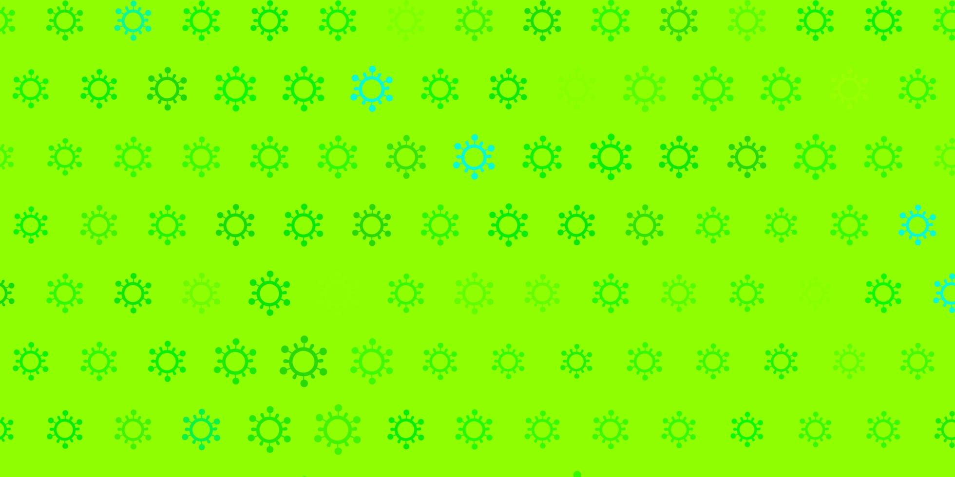 Light green texture with disease symbols. vector