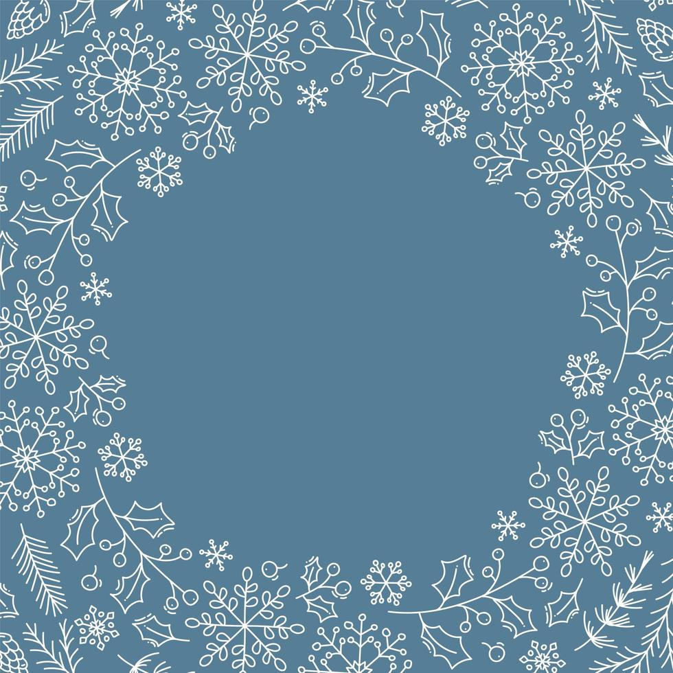 fondo de navidad con copos de nieve de navidad vector