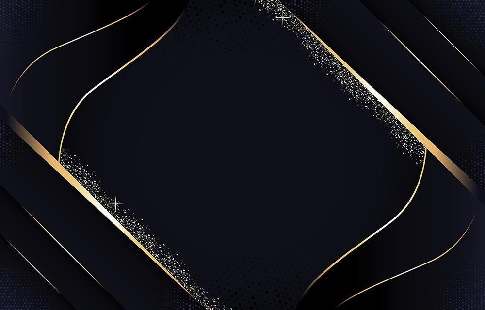 Luxury Black and Gold Background vector