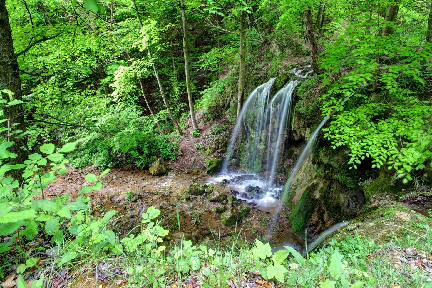 Waterfall Hajske in Slovakia photo