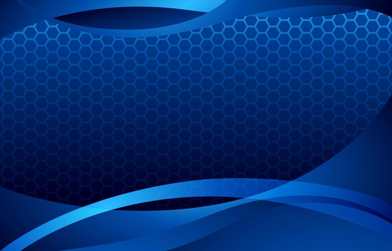 Abstract Blue Background with Wavy Curves vector