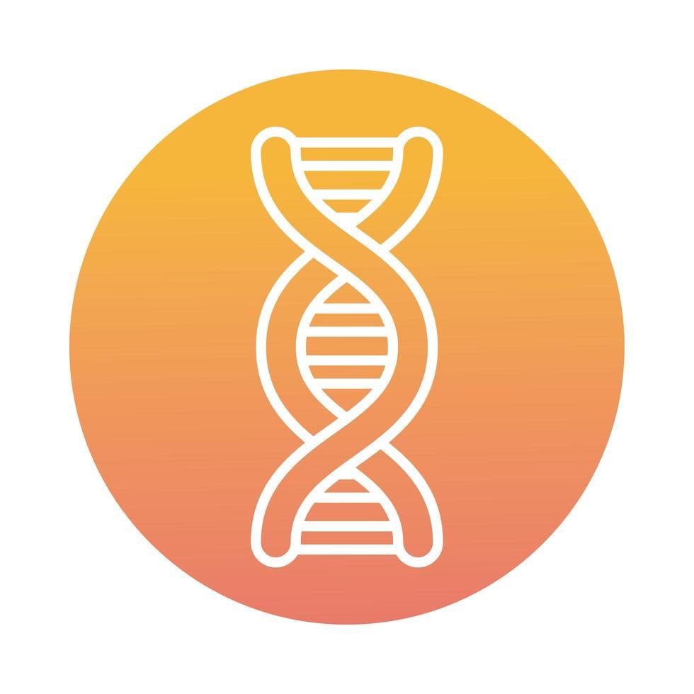DNA molecule block style icon vector