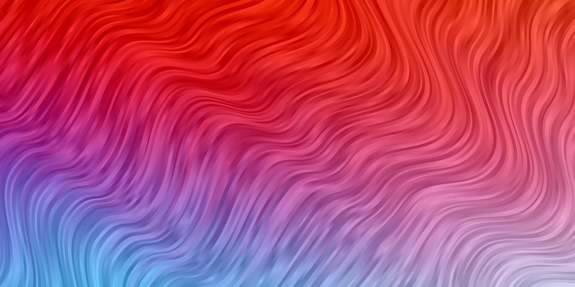 Blue and red background with bent lines. vector