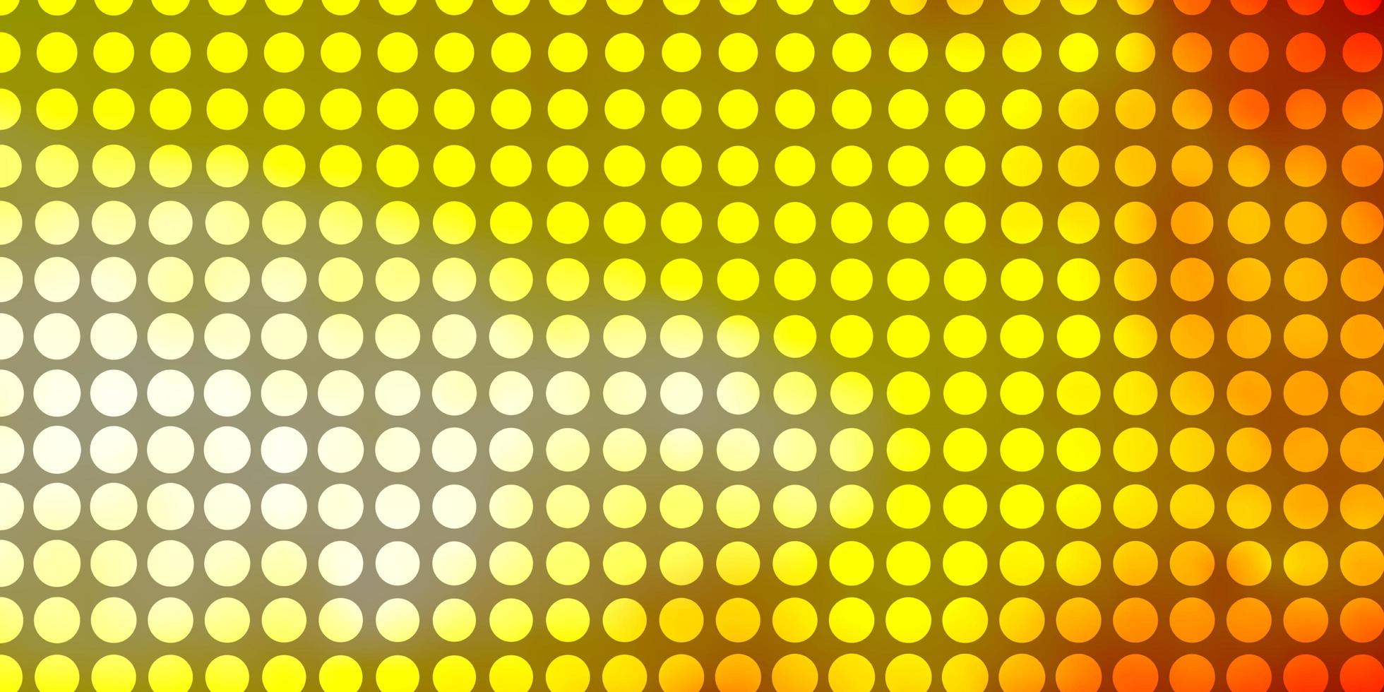 Yellow and red background with circles. vector