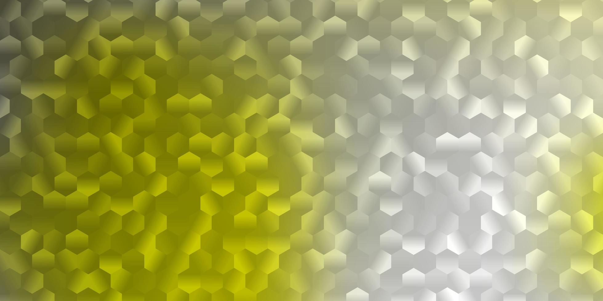 Light yellow pattern with hexagons. vector