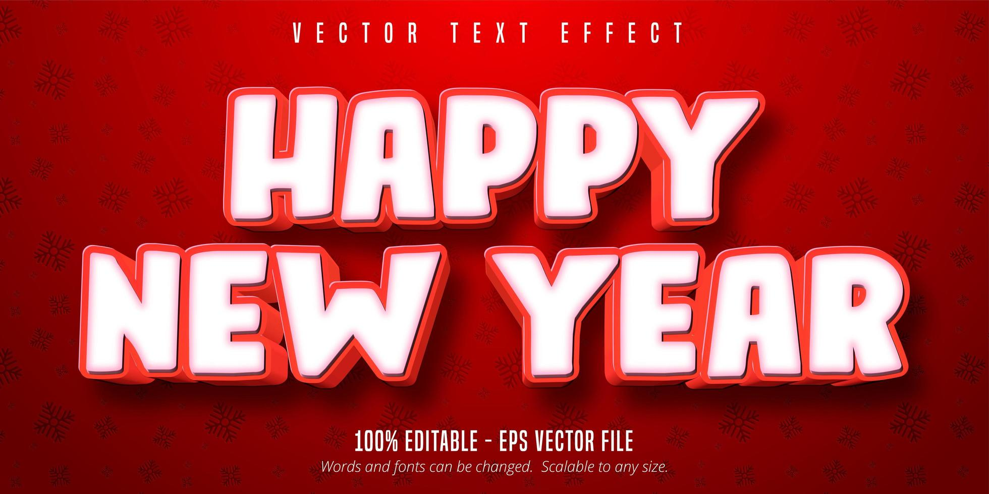 Happy new year text effect vector
