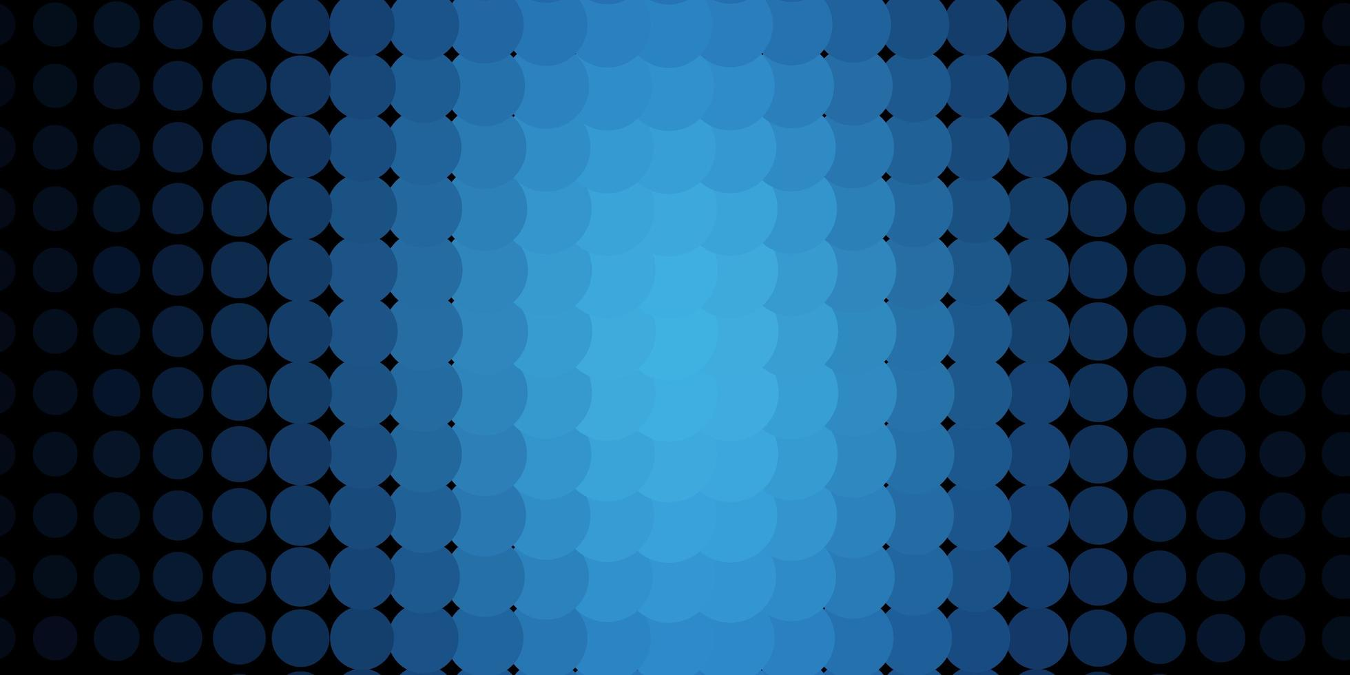 Blue background with circles. vector