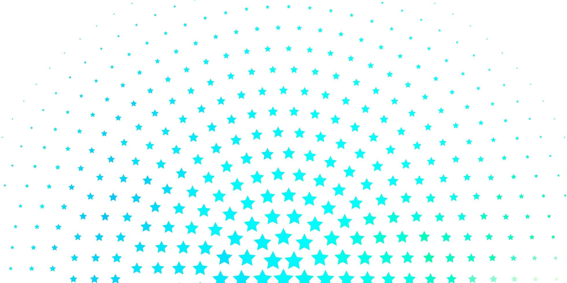 Fondo de estrellas azules degradado. vector