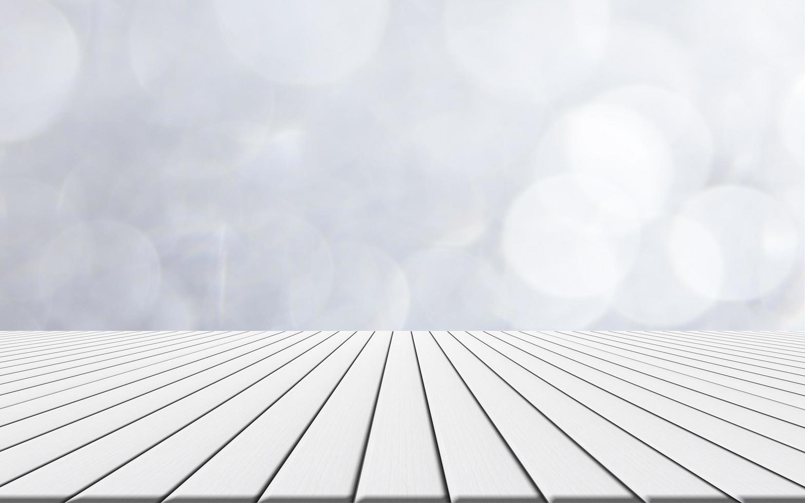 Wood floor with bokeh background photo