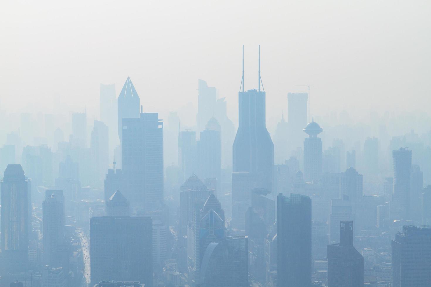 vista aérea de un paisaje urbano foto