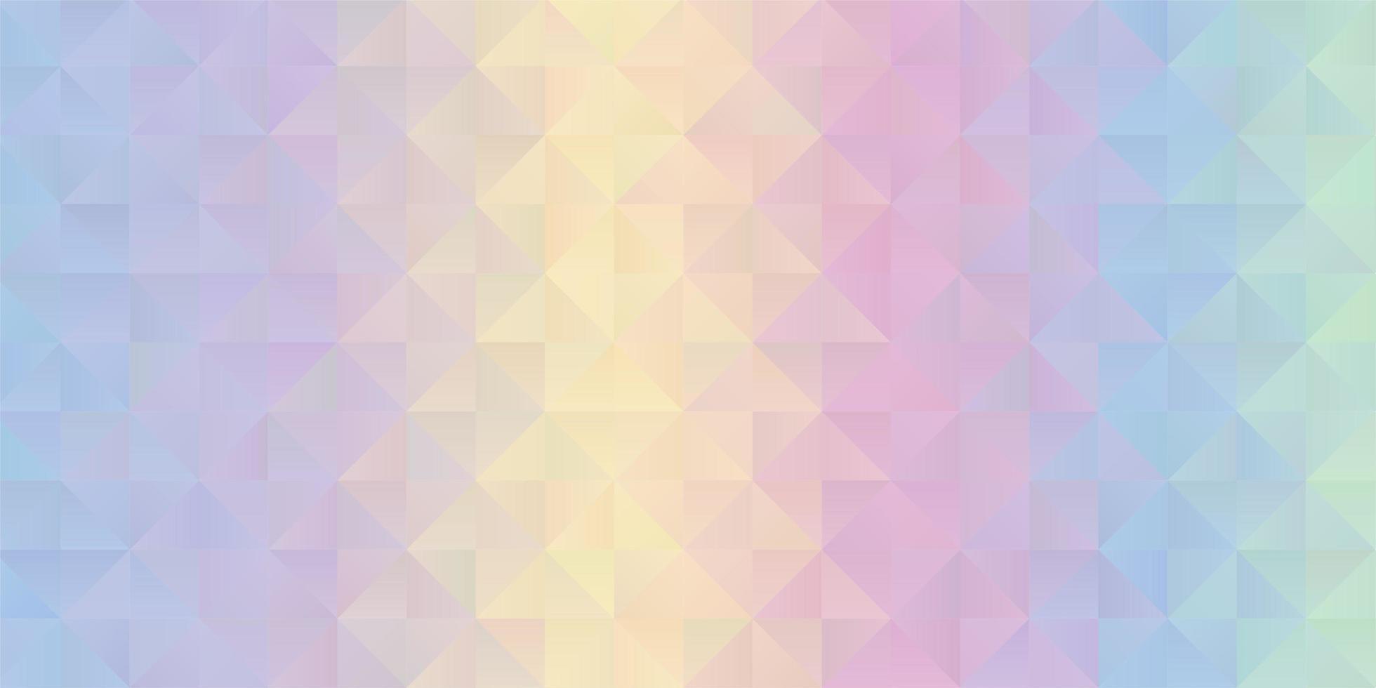 diseño de banner pastel low poly vector