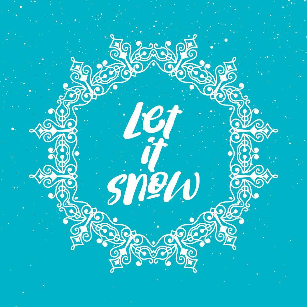 déjalo nevar fondo de navidad vector