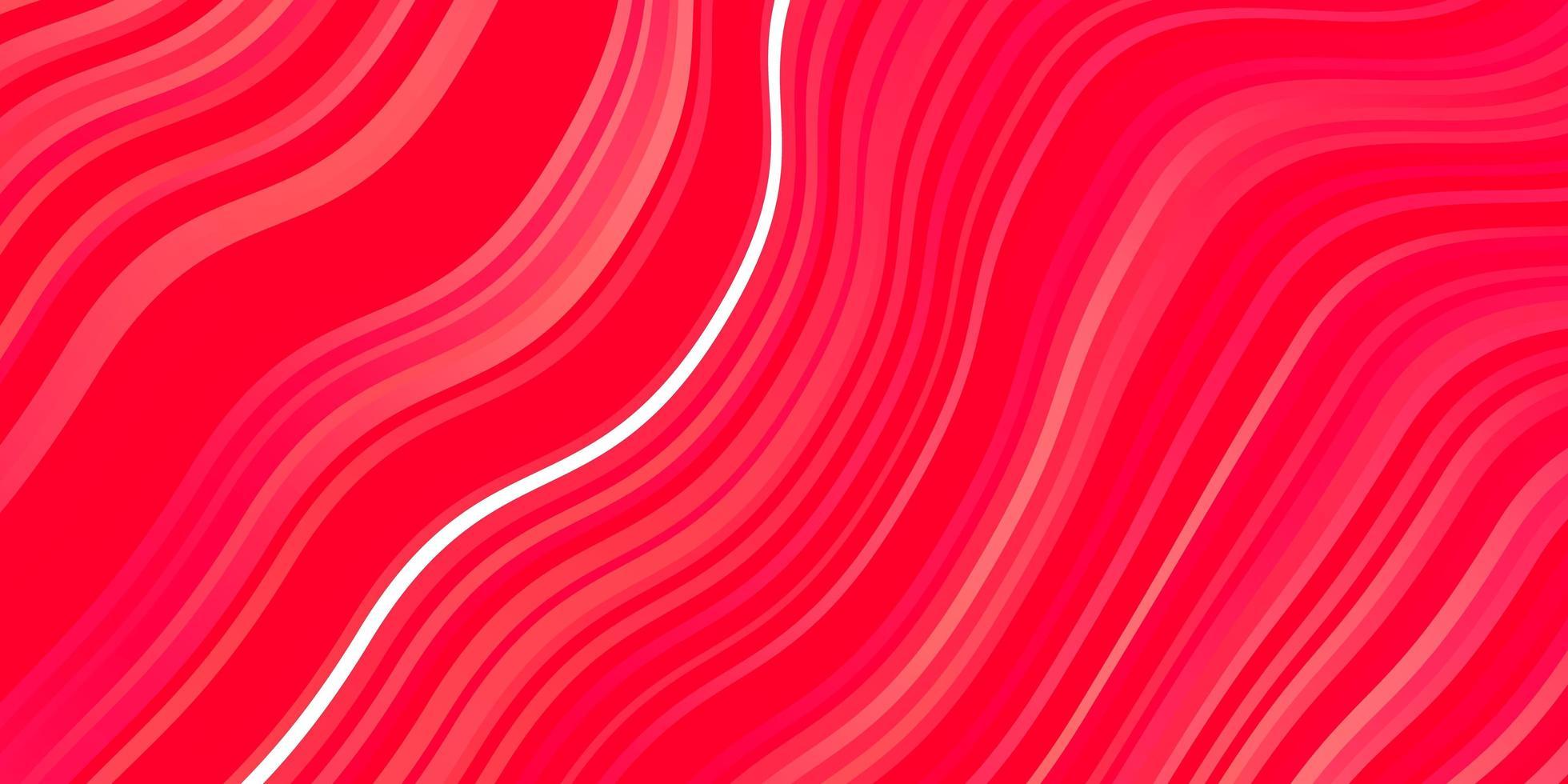 plantilla roja con líneas curvas. vector