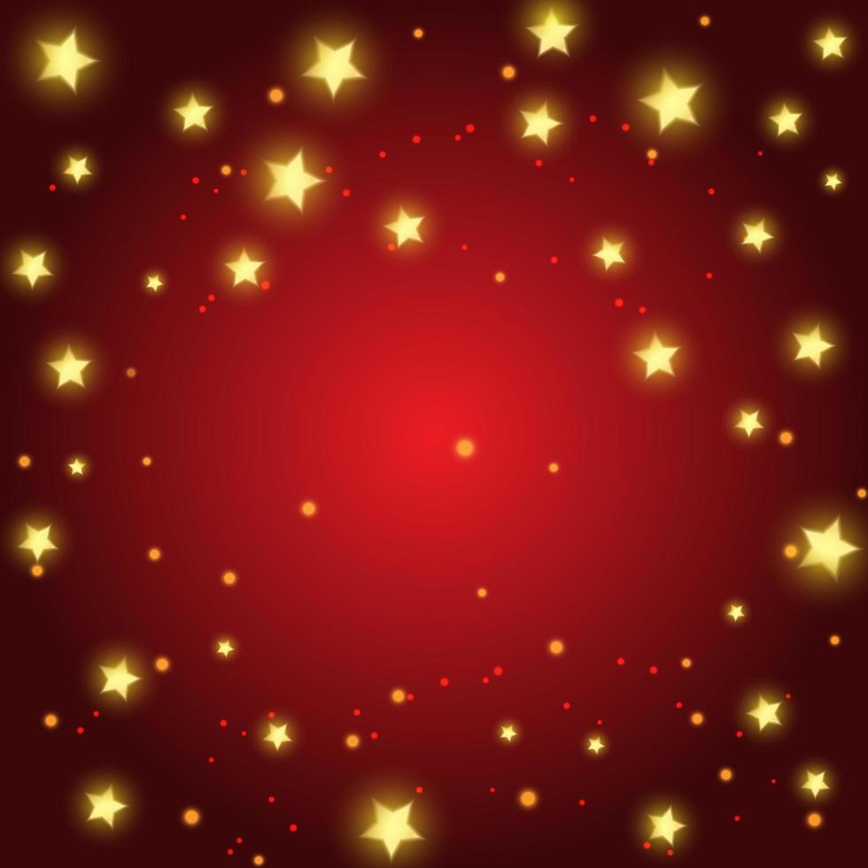 fondo de navidad con diseño de estrellas doradas vector