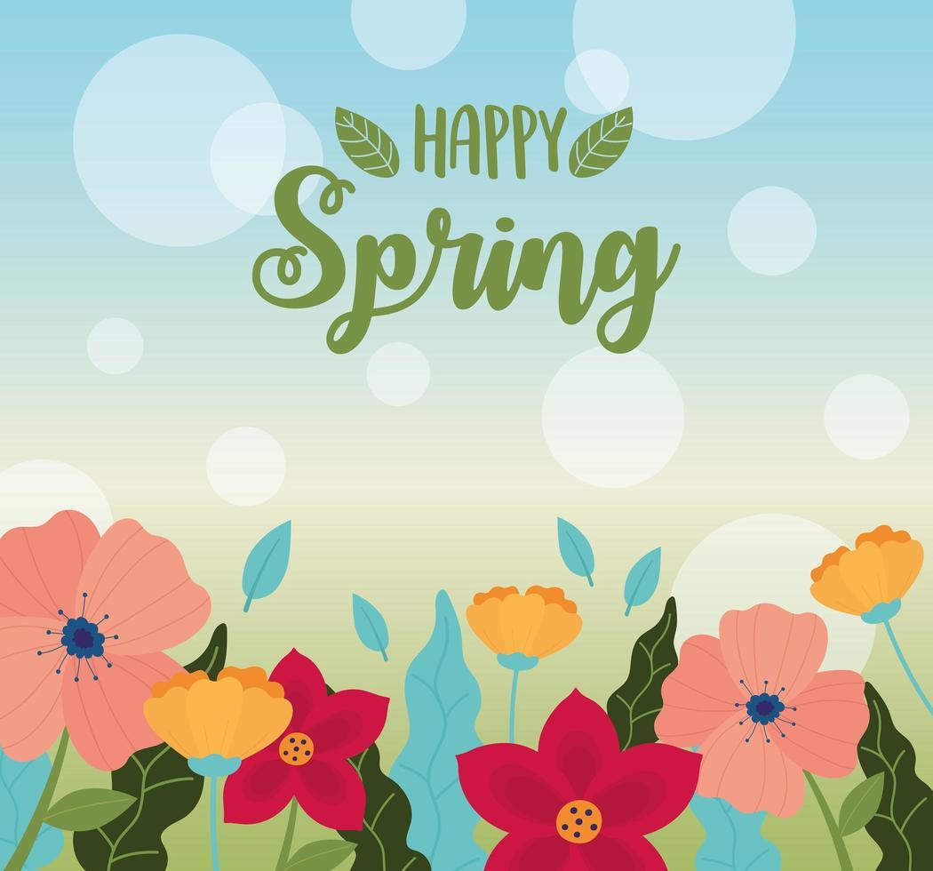 fondo de banner de celebración de primavera feliz vector