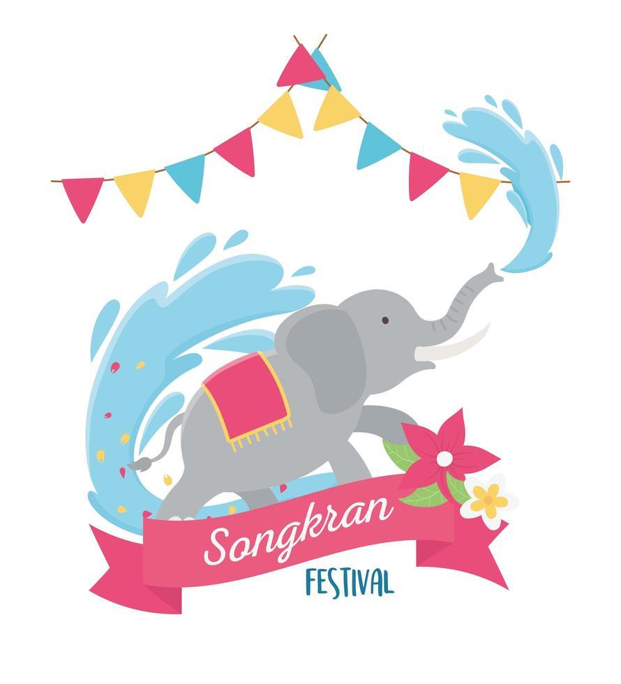 celebración del festival songkran vector